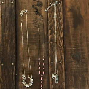 Maurices lot of 3 short necklaces costume jewelry